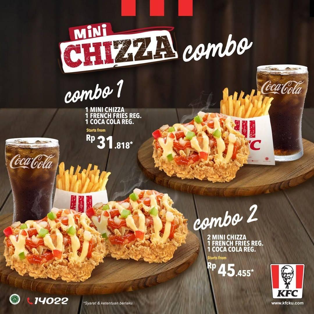 New! KFC Mini Chizza Combo mulai Rp. 31.818