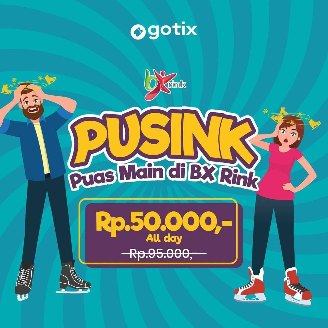 Bx Rink Promo Main Ice Skating Sepuasnya Sepanjang Hari Hanya Rp. 50.000 via Gotix