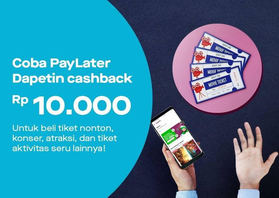 Gotix Prom Cashback Rp. 10.000 untuk Pengguna Baru Paylater
