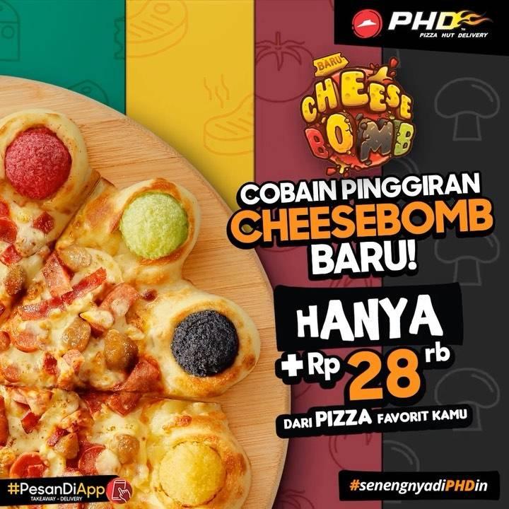 PDH Baru Pinggiran Cheesebomb Cuma Tambah Rp 28ribu di Pizza Regular favoritmu