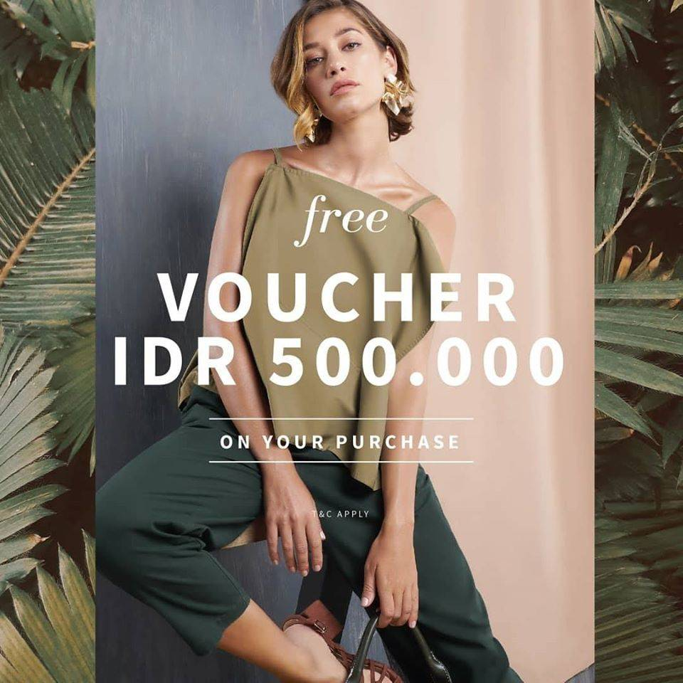 Et Cetera Promo Get free vouchers IDR 500.000 With Minimum Purchase IDR 500.000