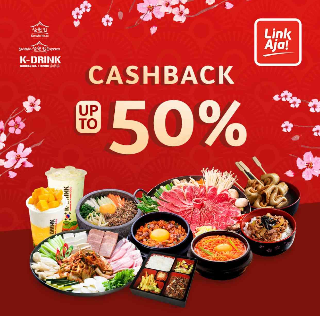 SamWon dan K-Drink Promo Cashback hingga 50% dengan LinkAja