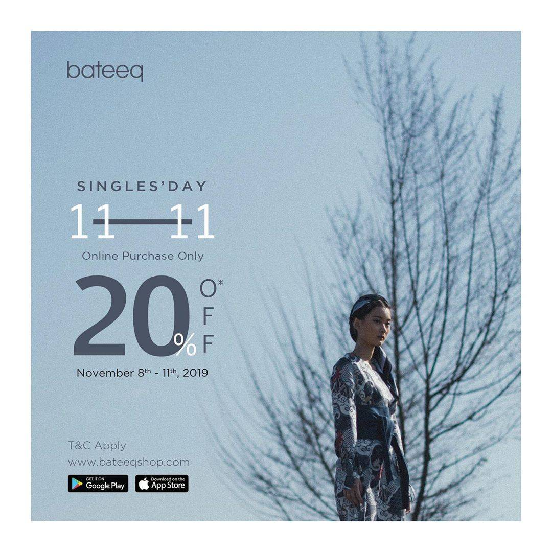 Diskon Bateeq Promo Single's Day 11 11 Discount 20% Off Online Purchase Only