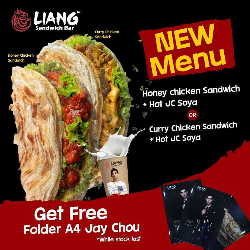 Liang Sandwich Promo New Menu Honey Chicken Sandwich + Curry Chicken Sandwich