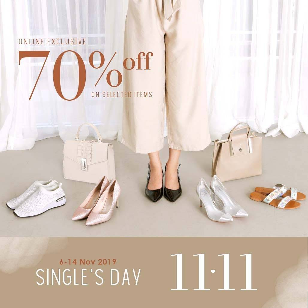 EVB Shoes Promo Single's Day 11.11 Online Exclusive Discount up to 70% off selected items and 20% Of