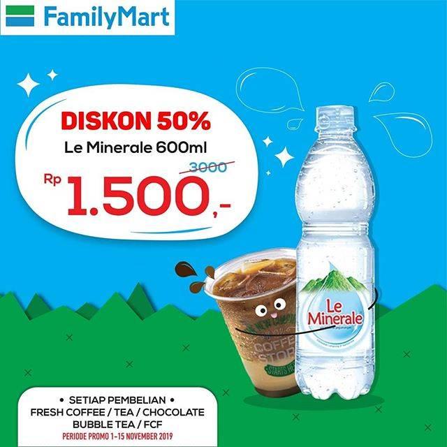 FamilyMart Promo Tebus Murah Le Minerale 600ml Hanya Rp. 1.500