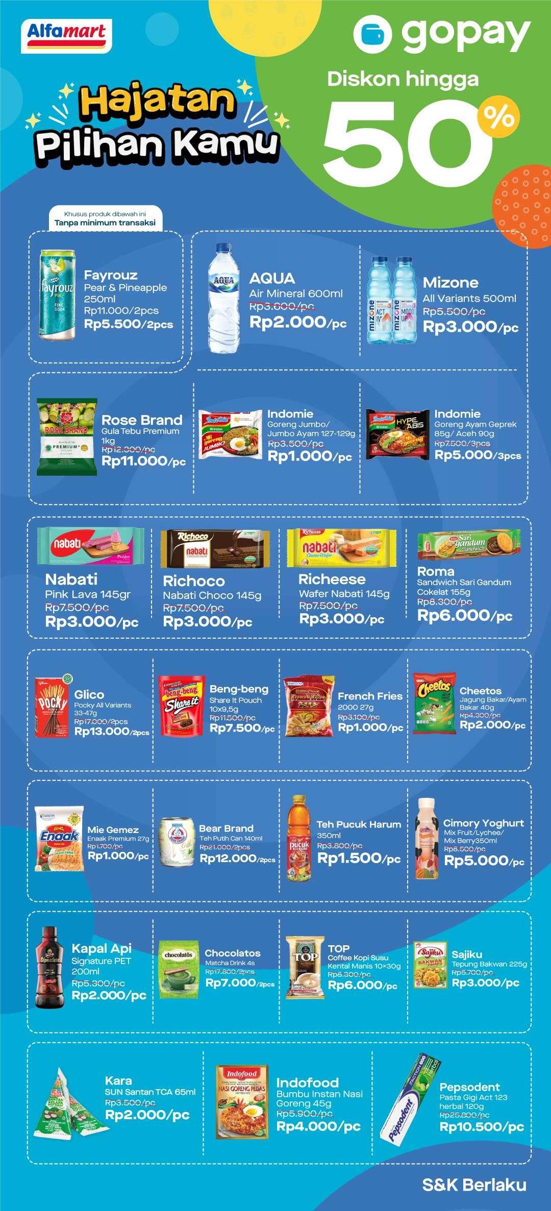 Alfamart Promo Hajatan November Gopay Cashback Hingga 50% dan Voucher Cashback 99%