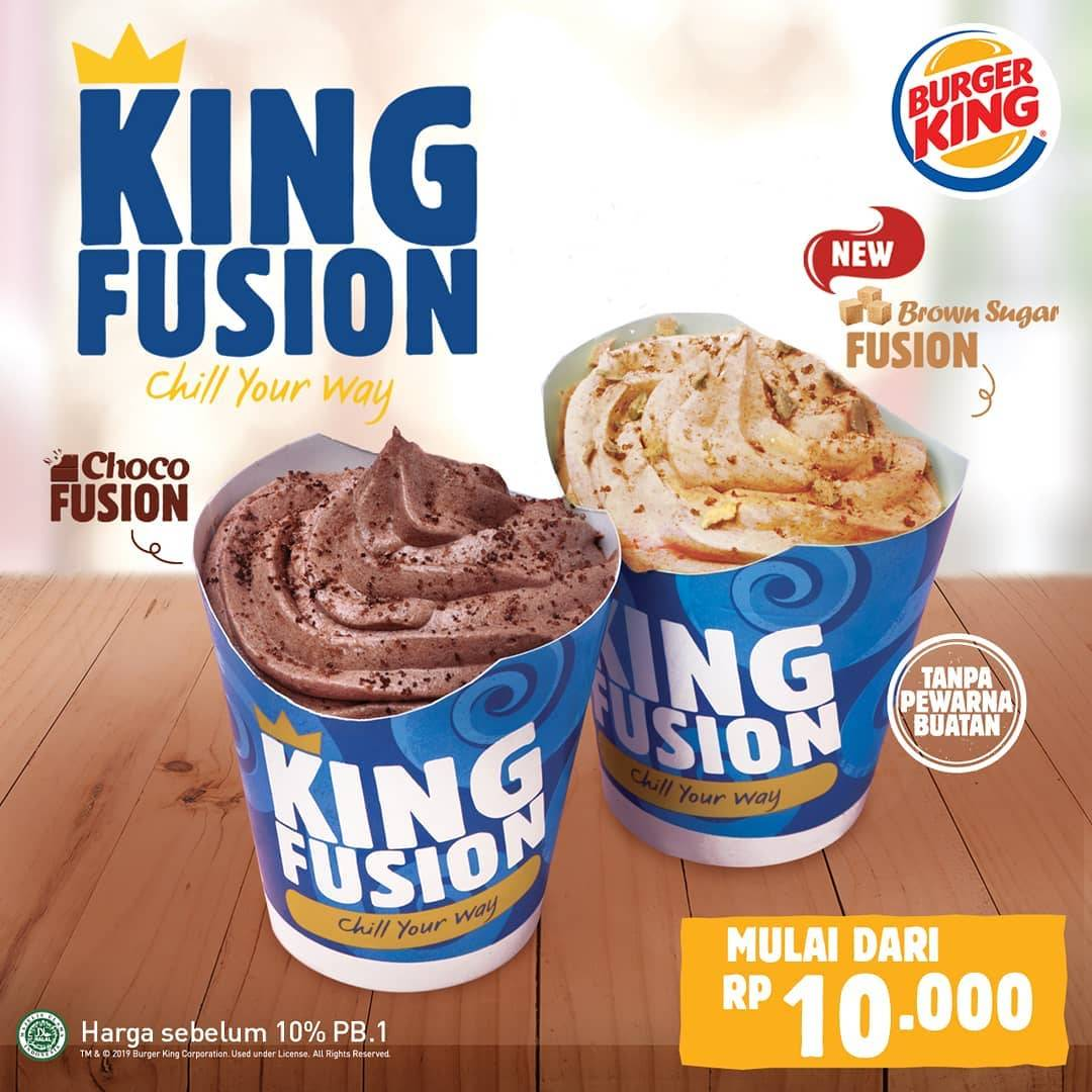 Burger King Promo New King Fusion Ice Cream Start From Rp 10.000