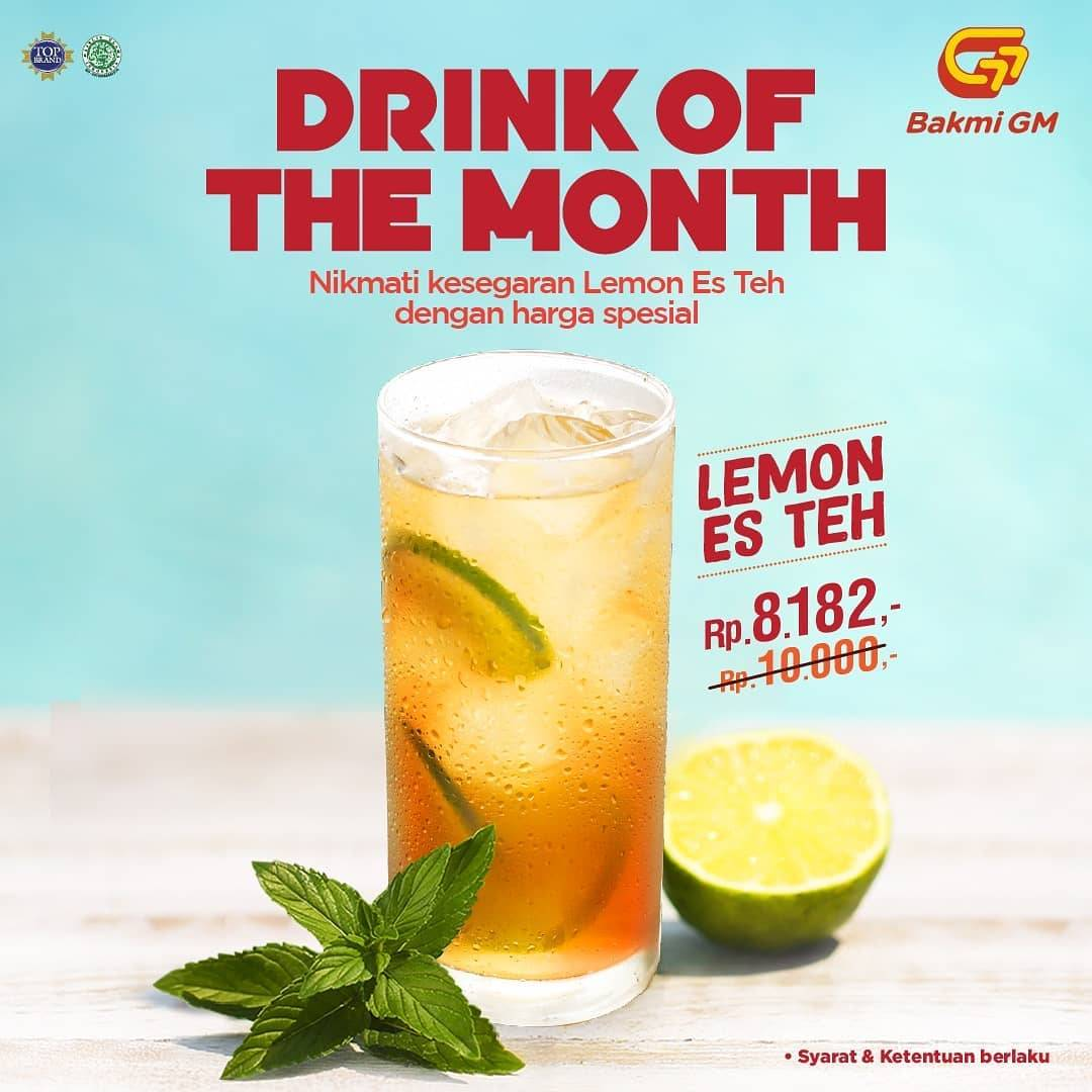 Bakmi GM Promo Drink Of The Month Lemon Es Teh Rp 8.182