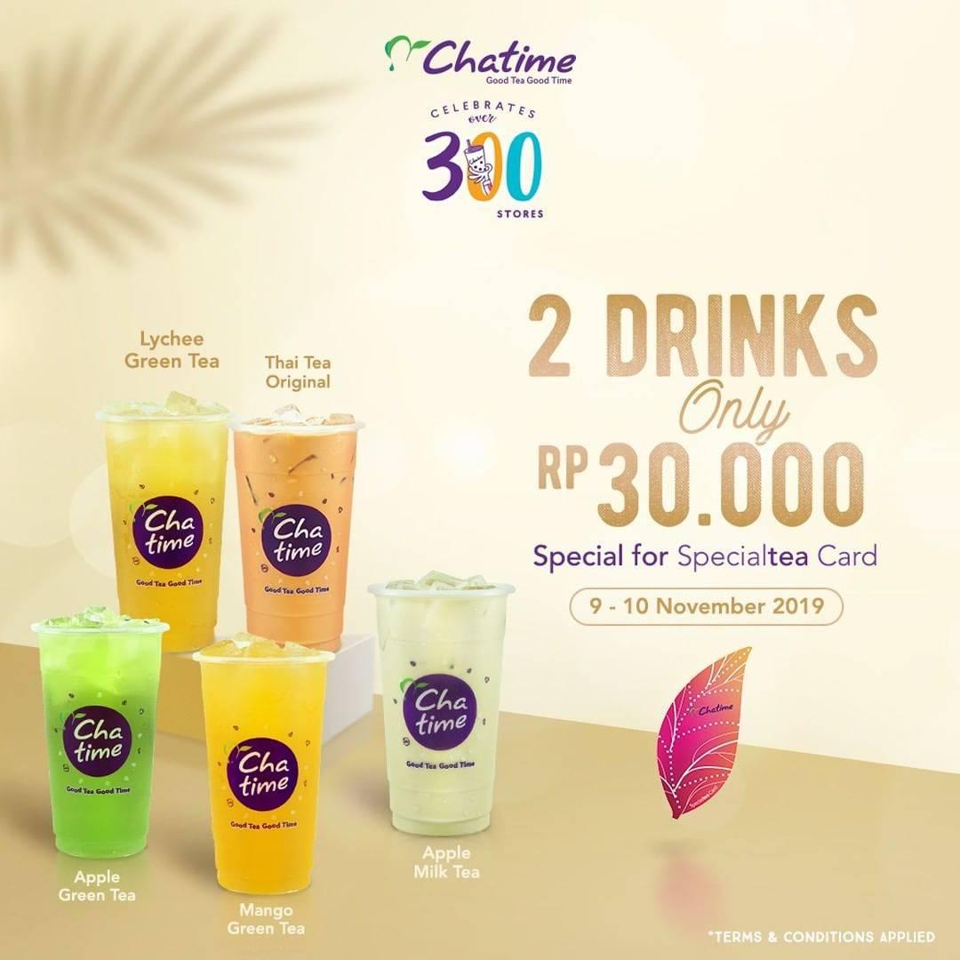 Chatime Special Treat Beli 2 Minuman cuma Rp. 30.000 saja