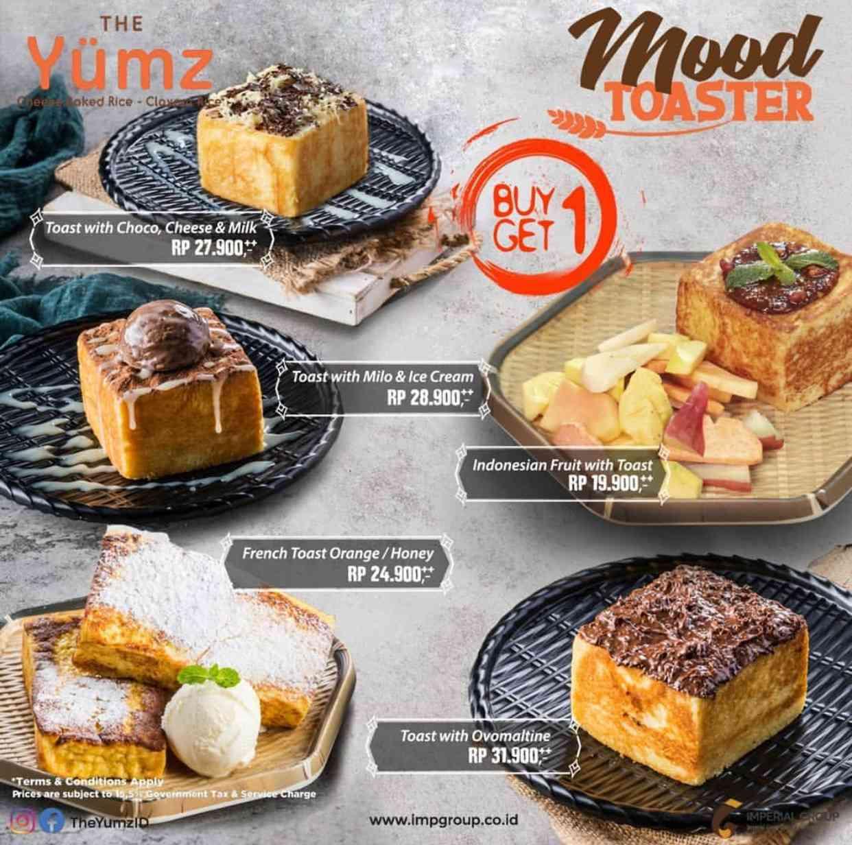 Diskon The Yumz Promo Buy 1 Get 1 Free Untuk Menu Pilihan Toast