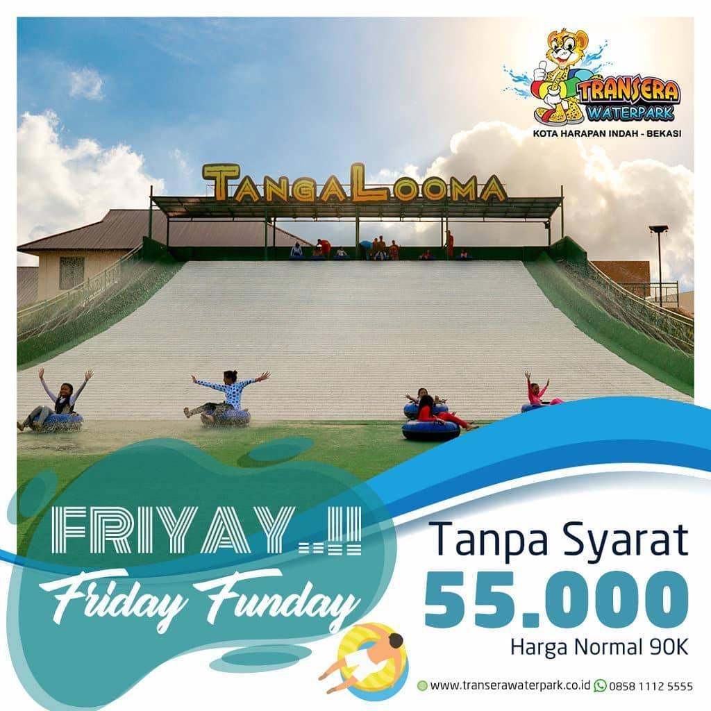 Transera Waterpark Promo Friyay Harga Spesial setiap Jumat Rp. 55.000