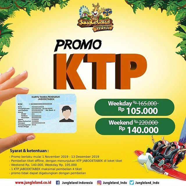 Jungleland Promo KTP Weekday Rp 105.000 Weekend Rp 140.000