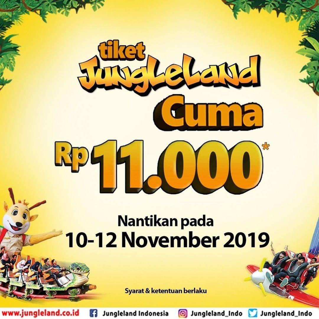 Diskon Jungleland Promo Online Exclusive Harga Spesial Tiket Masuk Rp. 11.000