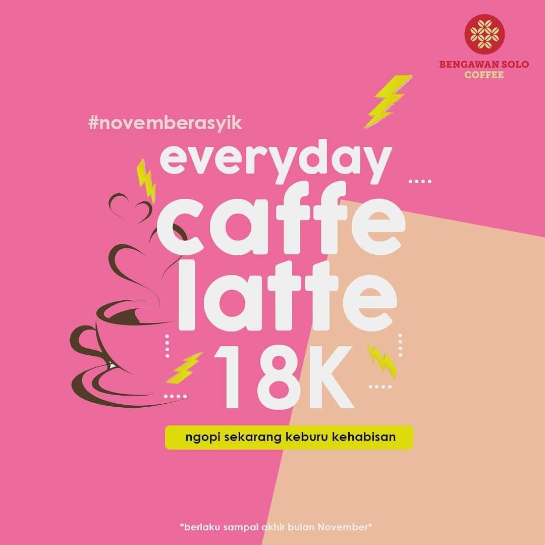 Bengawan Solo Promo Harga Spesial Caffee Latte Hanya Rp. 18.000