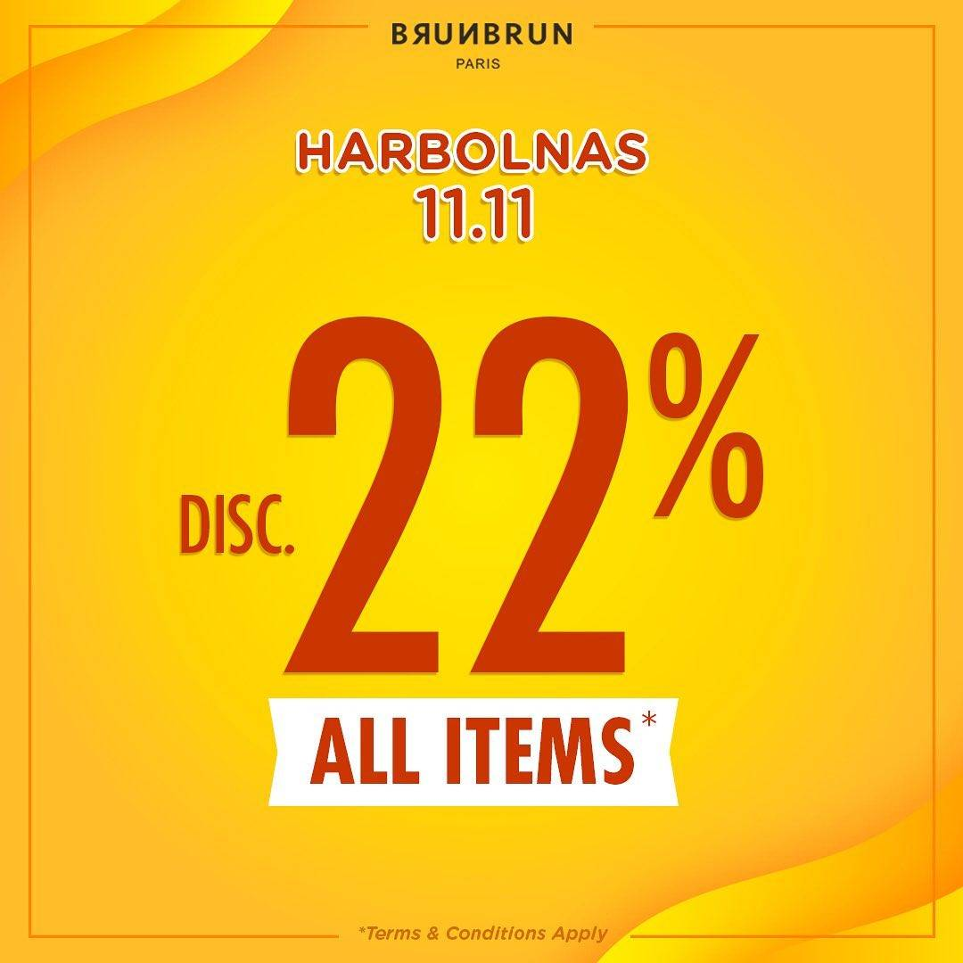 Brun Brun Paris Promo 11.11, Diskon 22% All Items!