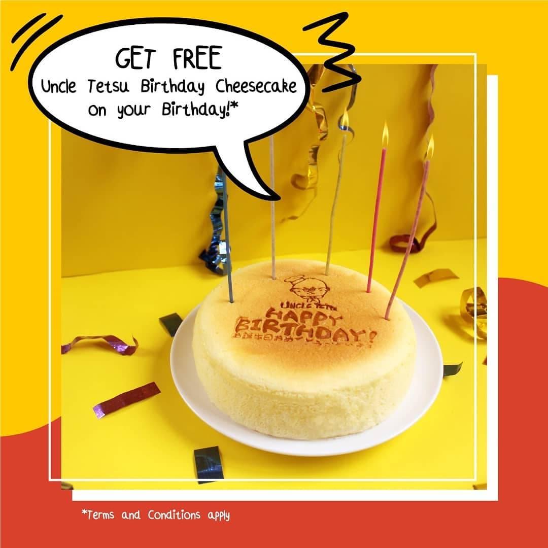 Uncle Tetsu Promo Spesial Ulang Tahun, Gratis Original Cake