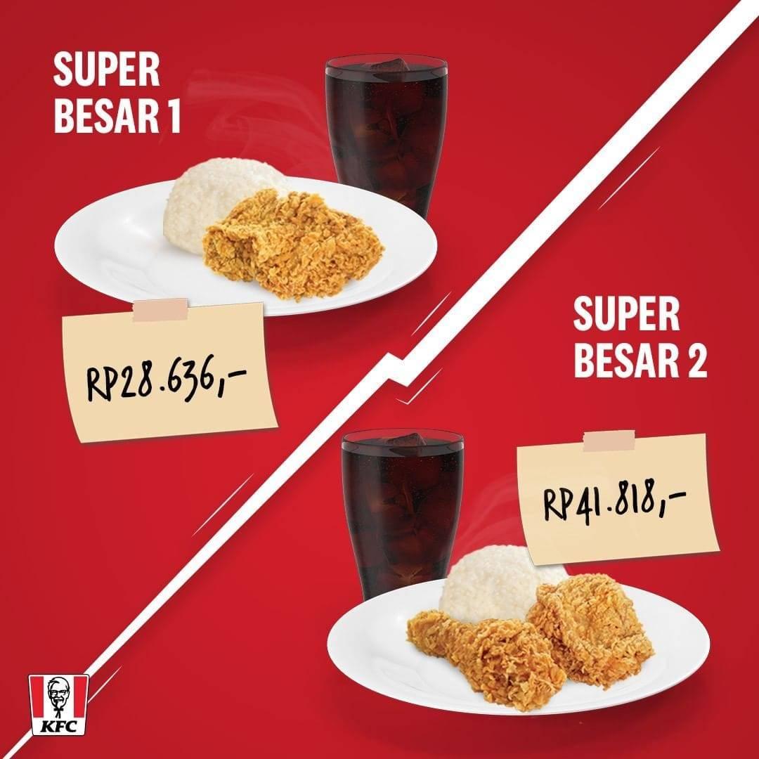 KFC Promo Paket Menu Hemat Super Besar, Harga Mulai Rp. 28 Ribuan