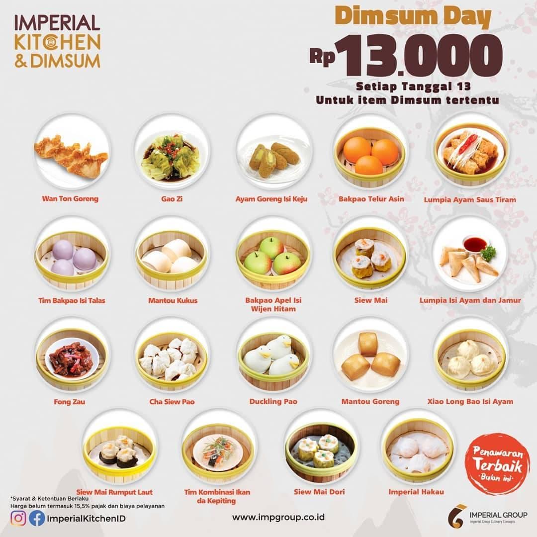 Diskon Imperial Kitchen & Dimsum Promo All Dimsum Rp. 9 Ribuan