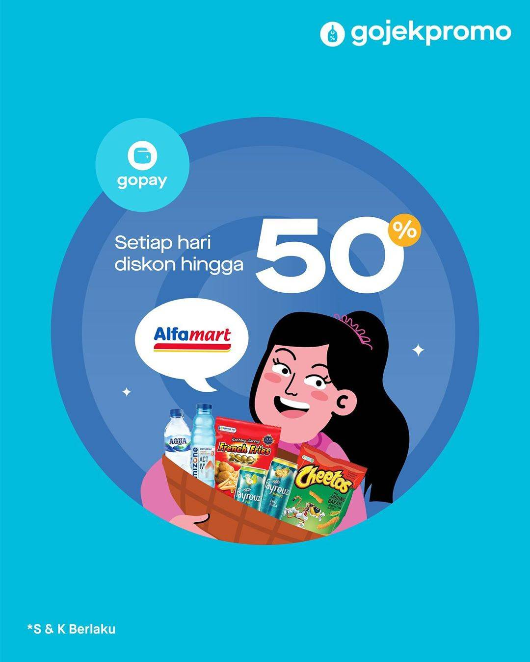 Alfamart diskon hingga 50% pakai GoPay