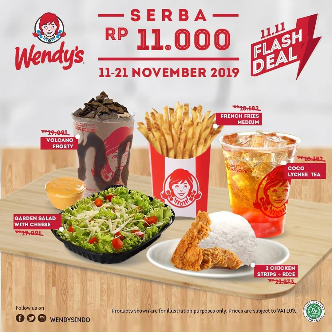 Wendy's flash Deal 11.11 cuma 11 ribuan