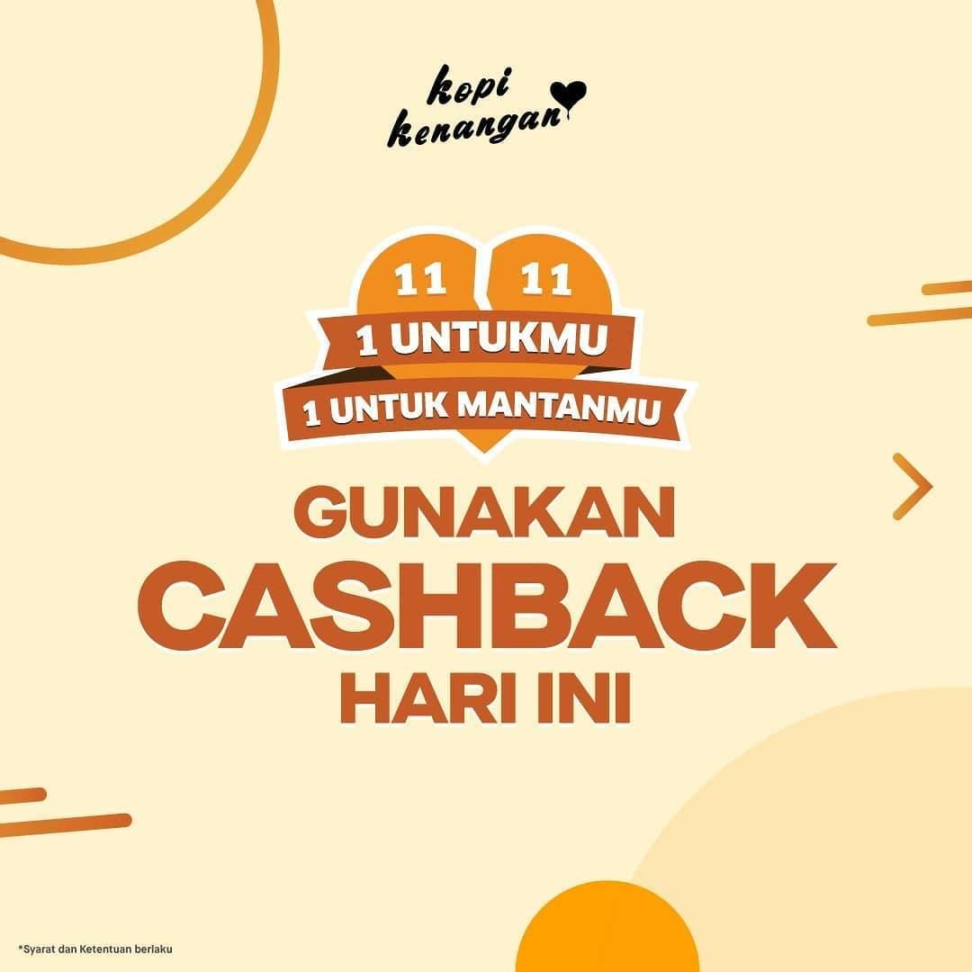 Kopi Kenangan Spesial 11.11 Promo Cashback Gopay, OVO, Dana dan ShopeePay