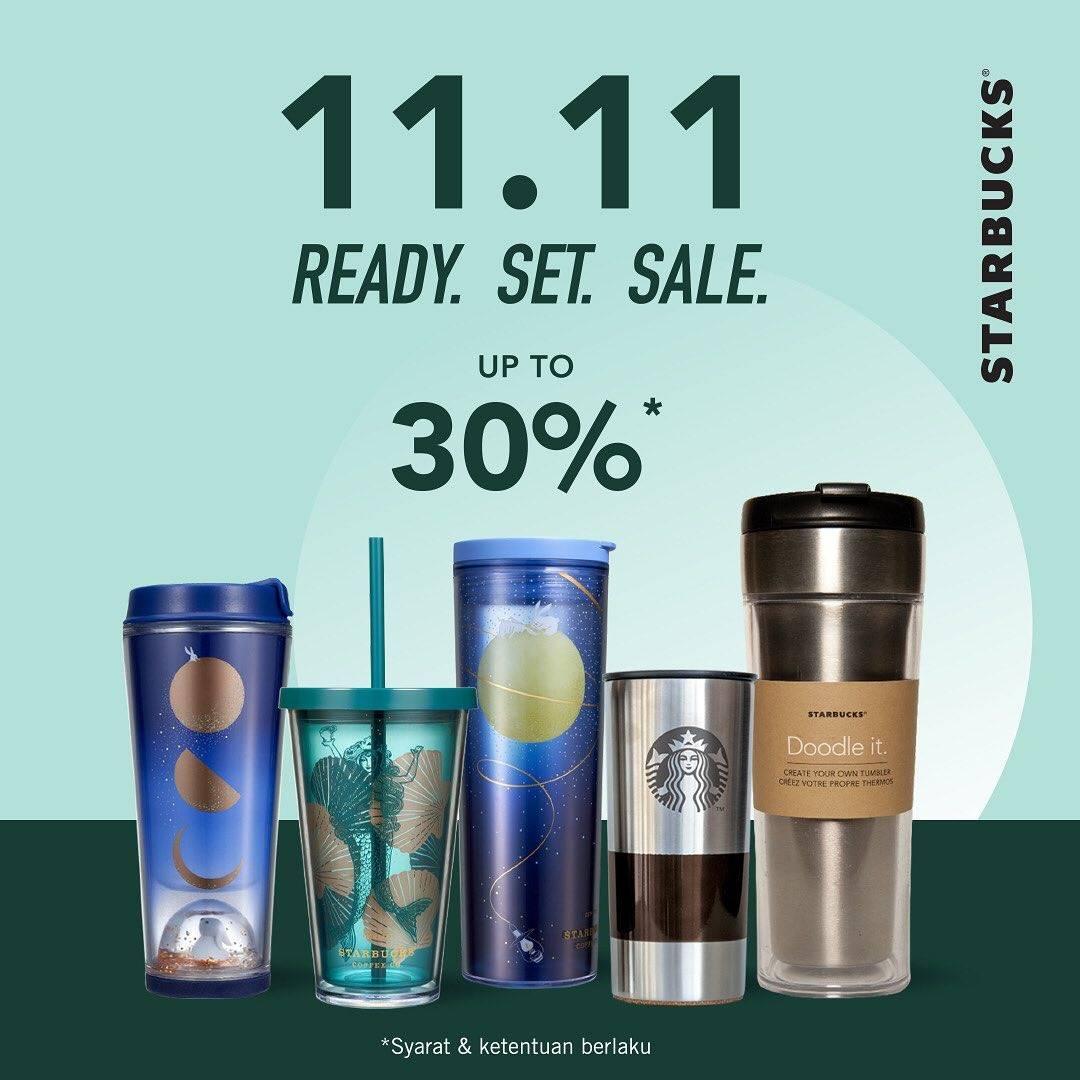 Starbucks Potongan 30% Merchandise 11.11 Hanya Hari Ini