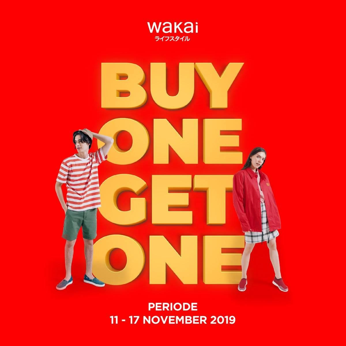 Wakai Promo Beli 1 Gratis 1 + Diskon 5%