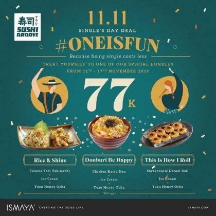 Diskon Sushi Groove Promo Paket 11.11 Single's Day Deal Hanya Rp. 77.000 per Paket