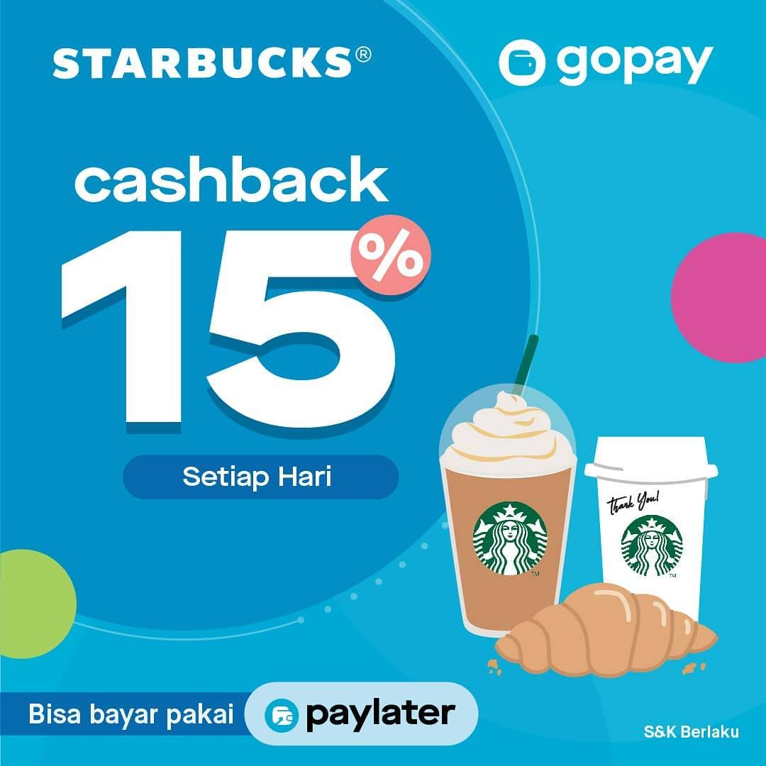 Starbucks Promo Cashback 15% dengan Gopay