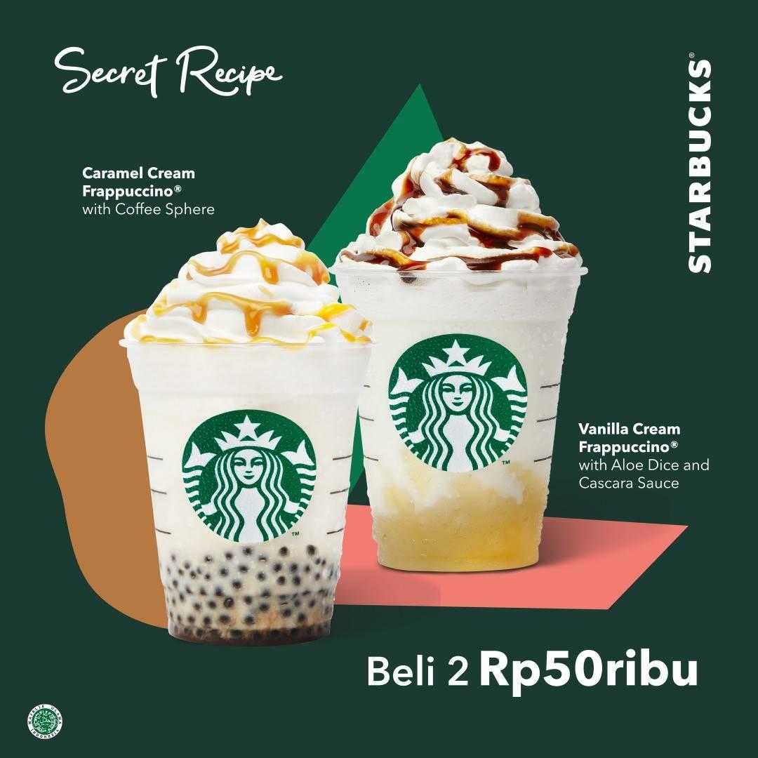 Diskon Starbucks Promo Beli 2 Minuman Secret Recipe Hanya Rp. 50.000