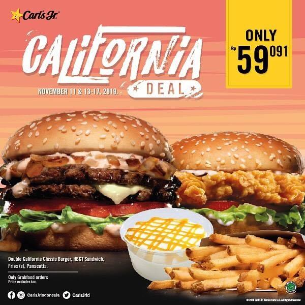 Carls Jr Promo Paket California Deal Spesial Hanya Rp. 59.091