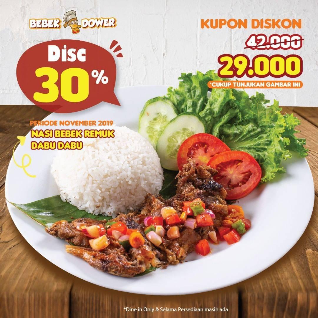 Bebek Dower Promo Kupon Diskon 30% untuk Menu Nasi Bebek Remuk Dabu Dabu