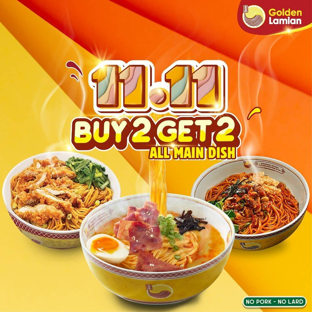 Golden Lamian Promo 11.11 Buy 2 Get 2 dengan Kupon LINE