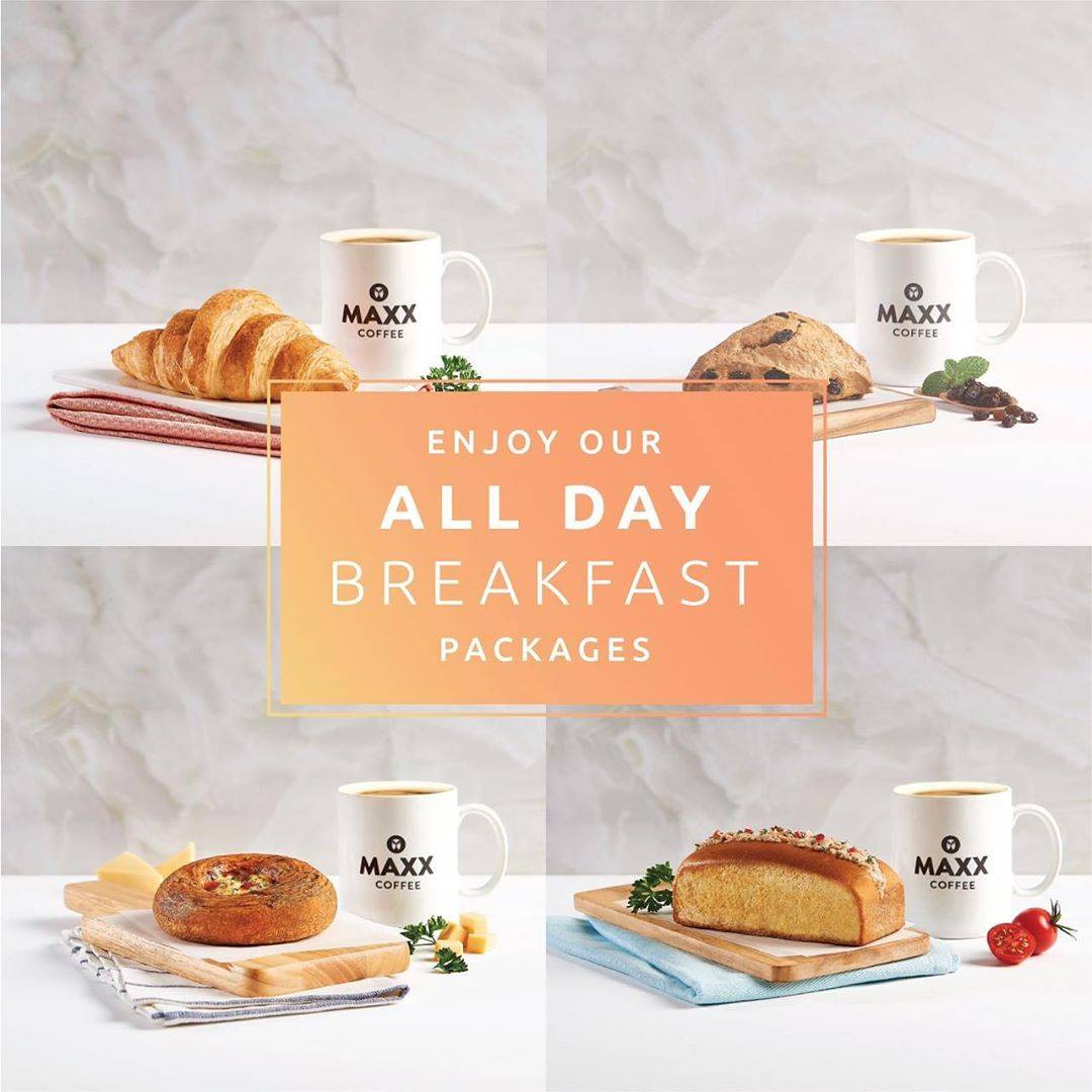 Maxx Coffee All Day Breakfast Package Harga mulai Rp. 35.000