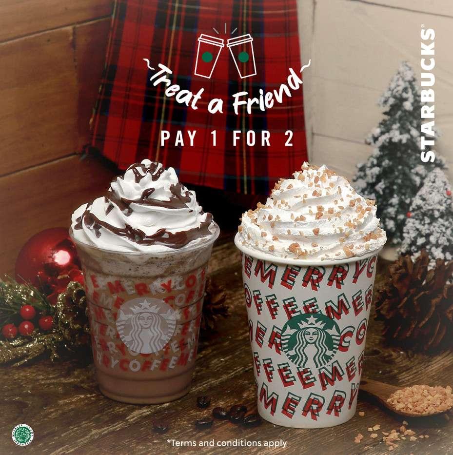 Starbucks Promo Kupon LINE Beli 1 Gratis 1 untuk Minuman Edisi Holiday