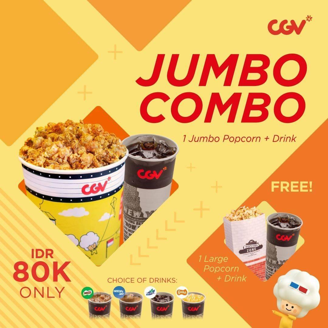 CGV Cinema Promo Paket Jumbo Combo cuma Rp. 80.000