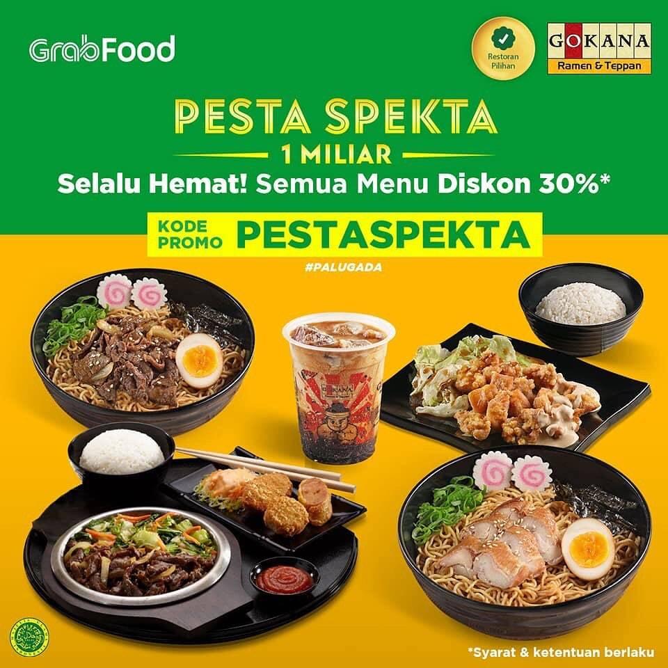 Gokana Promo GrabFood Paket Spesial + Diskon 30% untuk Semua Menu