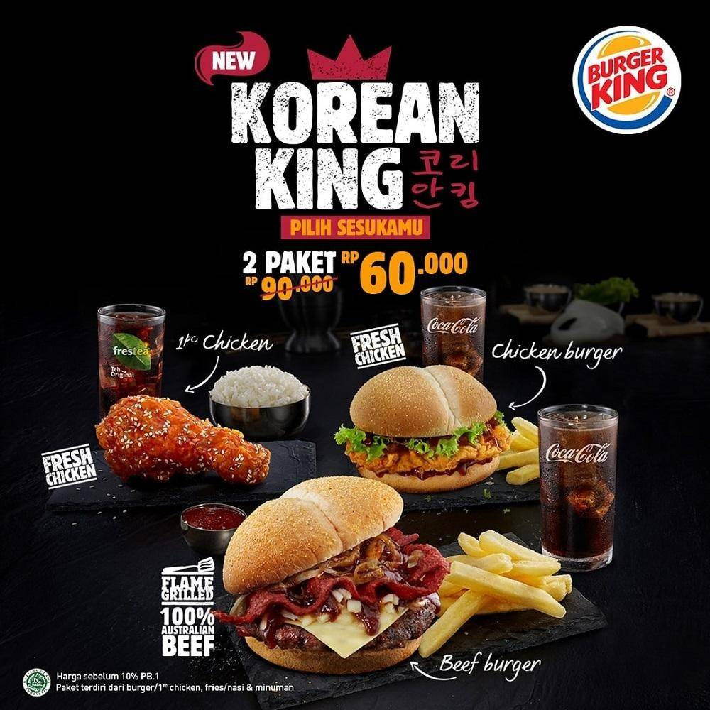 Burger King Promo New Menu - 2 Korean King for 60K
