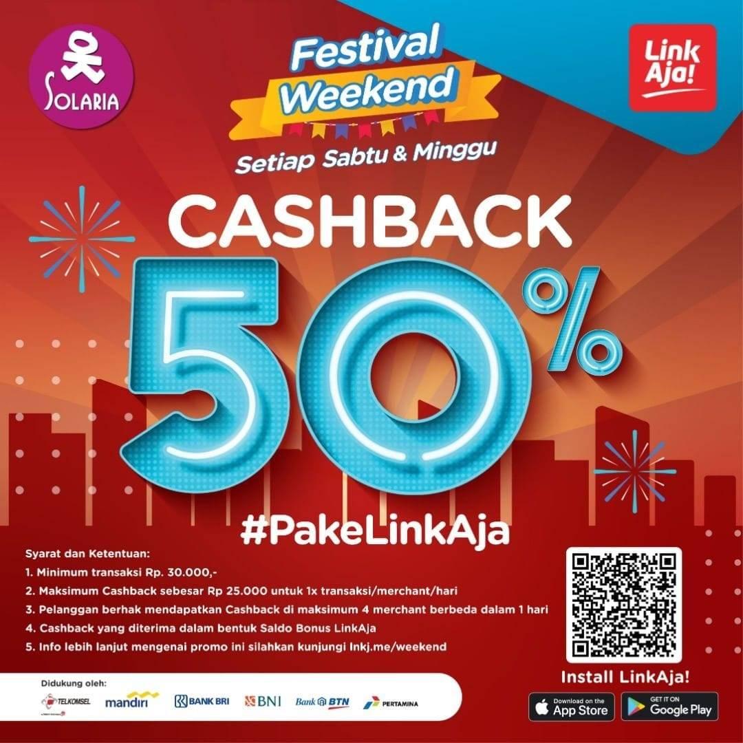 Solaria Promo Cashback 50% dengan LinkAja