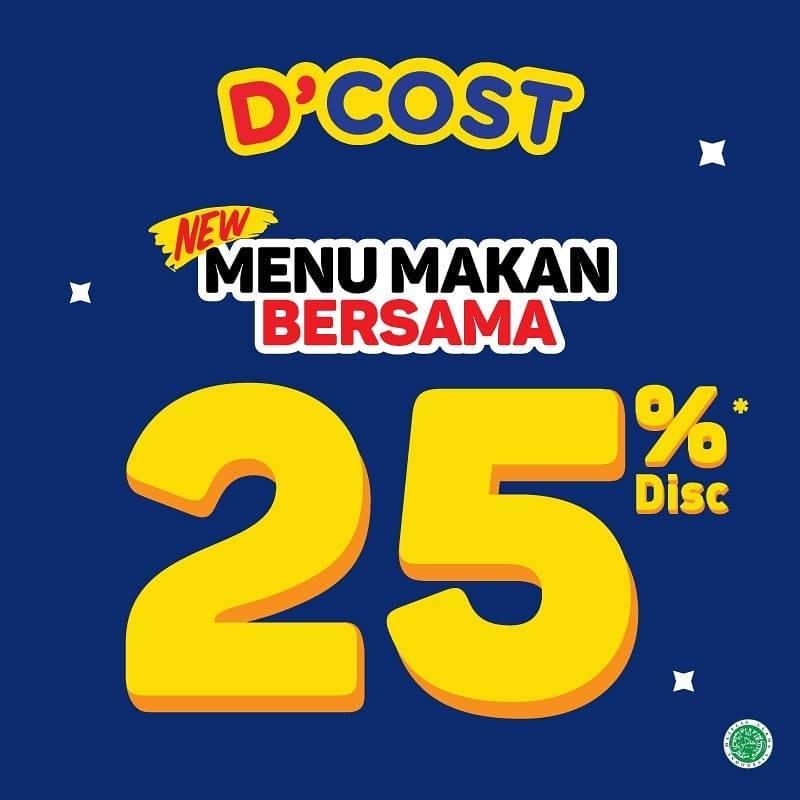 D'Cost Promo Menu Makan Bersama Diskon 25%
