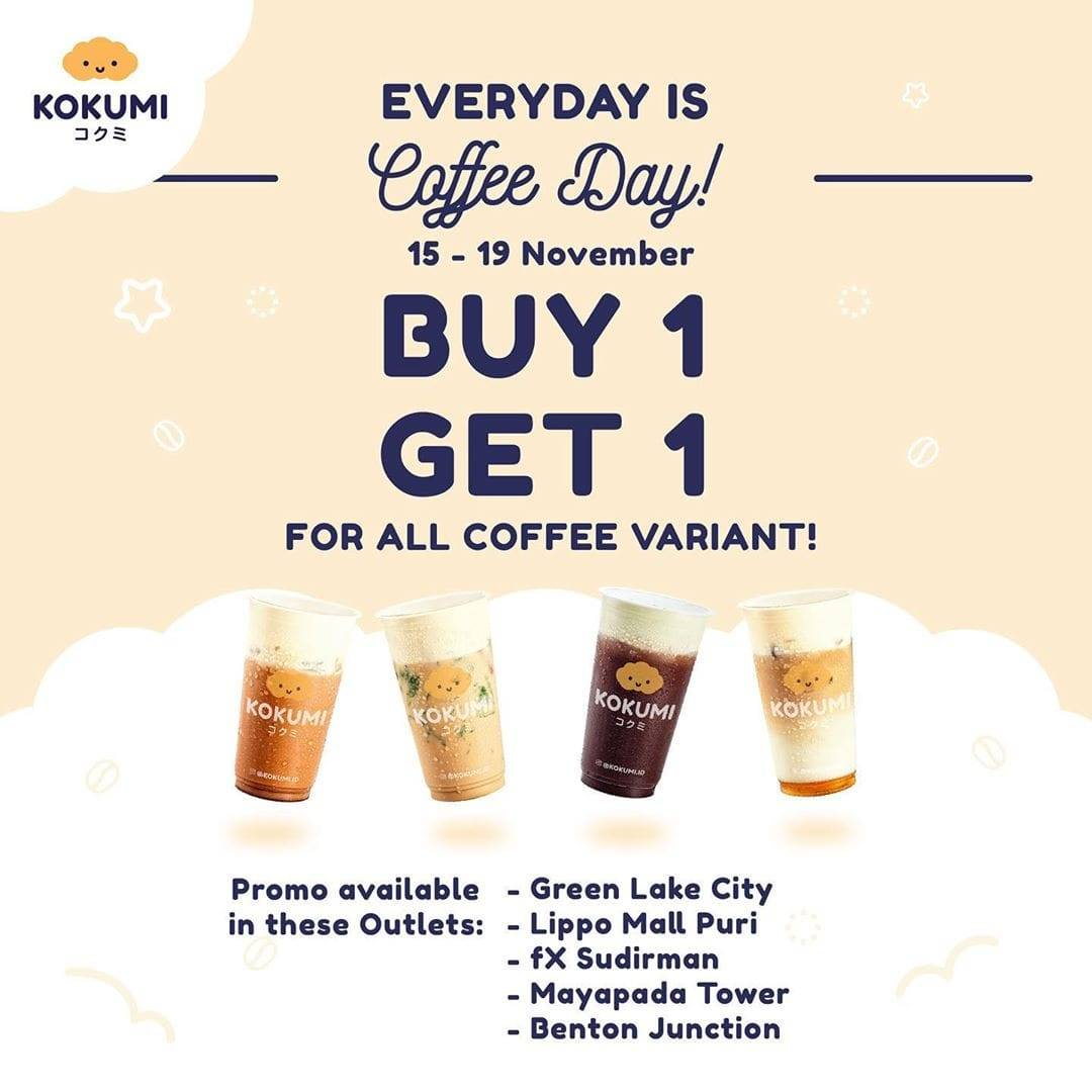 Kokumi Promo Spesial Everyday Is Coffee Day Buy 1 Get 1 Free
