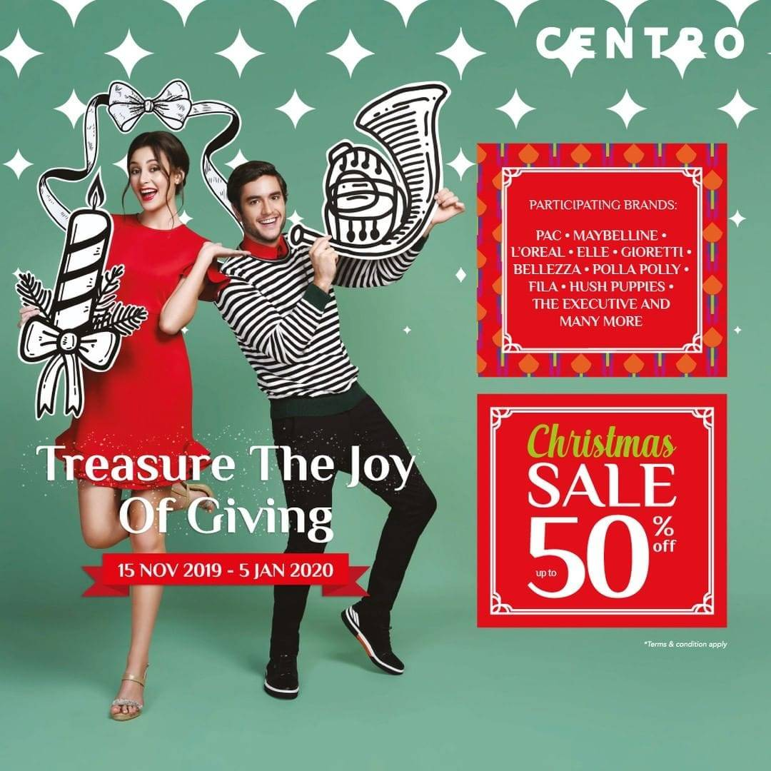 Centro Department Store Diskon Hingga 50% Promo Christmas Sale !