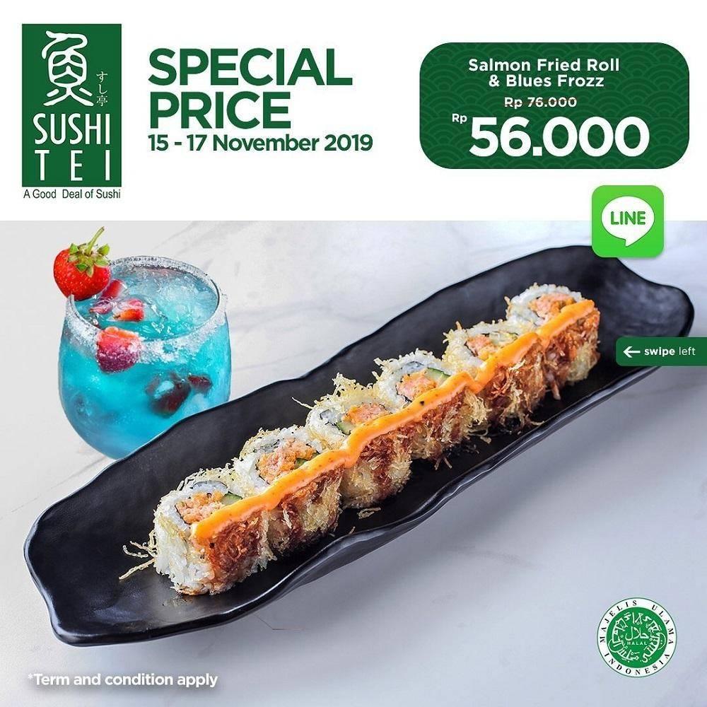 Sushi Tei Promo Harga Spesial Salmon Fried Roll dan Blues Frozz Hanya Rp56.000 via LINE