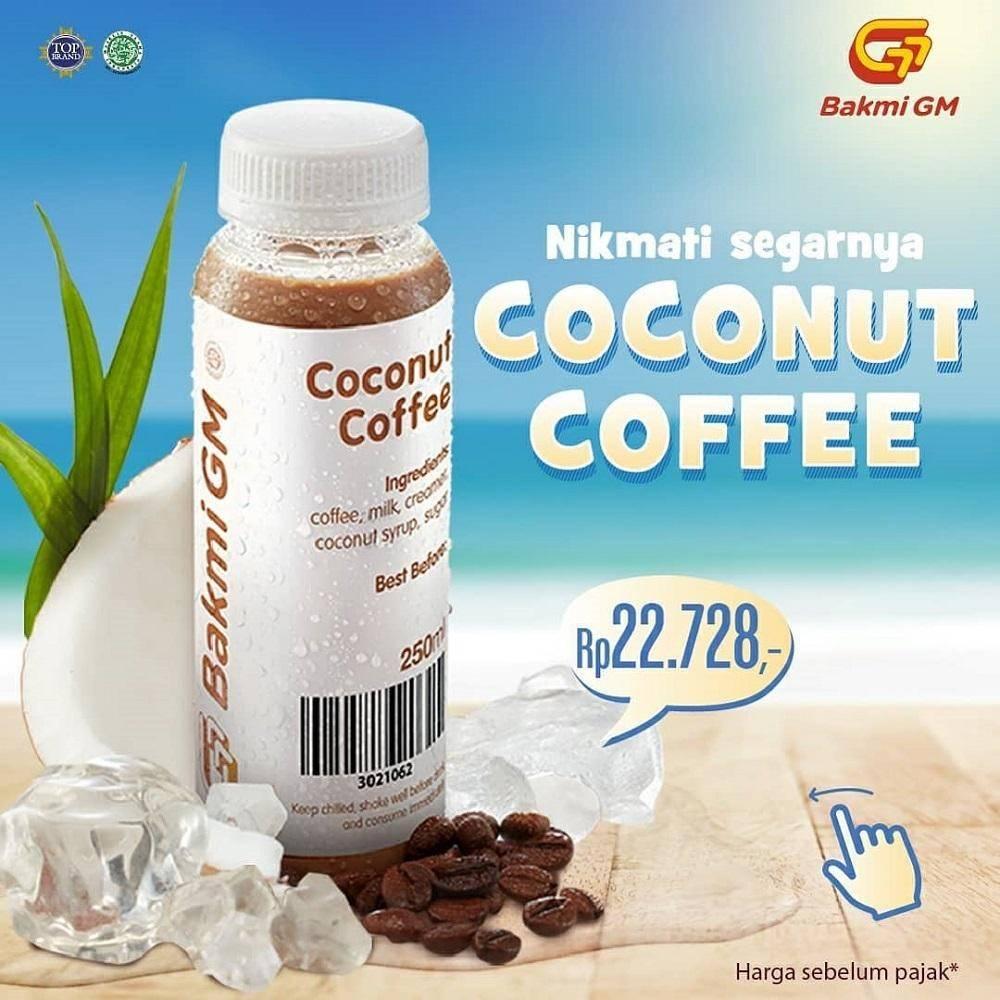 Bakmi GM Promo Harga Spesial Coconut Coffee hanya Rp22.728 saja