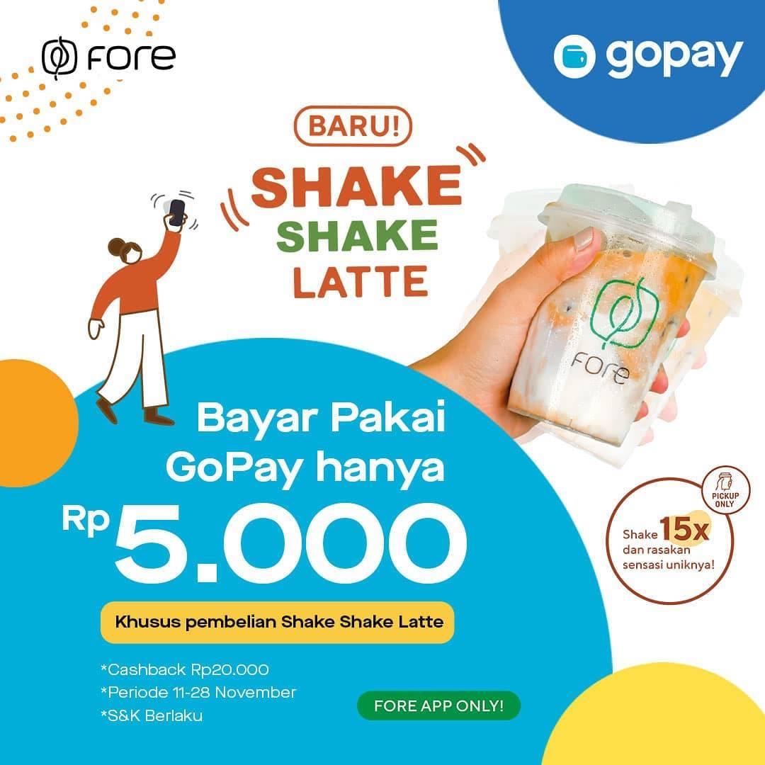 Fore Coffee Promo Harga Spesial Shake Shake Latte Cuma Rp 5.000 khusus Gopa