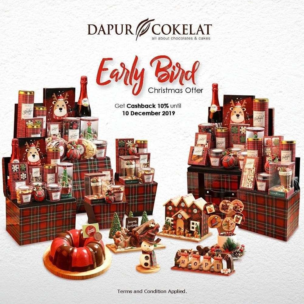 Dapur Cokelat Promo Early Bird Christmas Offer Cashback 10%