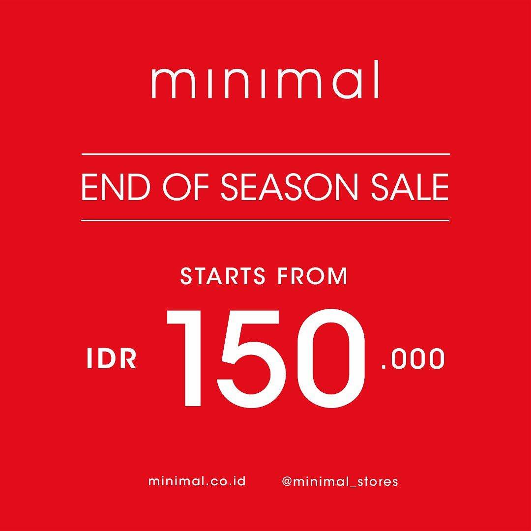 Minimal Promo End Of Season Sale Start From Rp 150.000