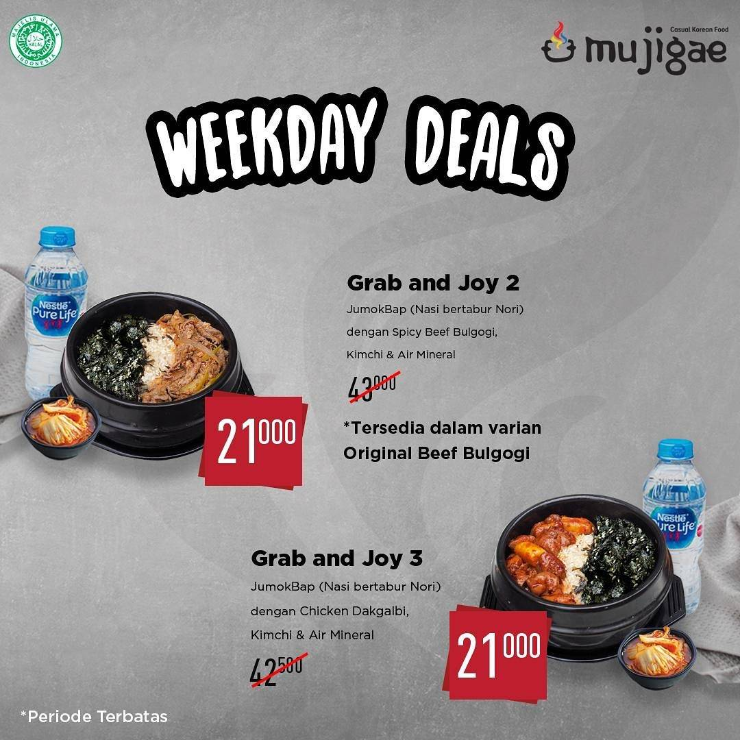 Mujigae Paket Weekdays Deals Spesial Grab and Joy 2 & 3 cuma Rp. 21.000