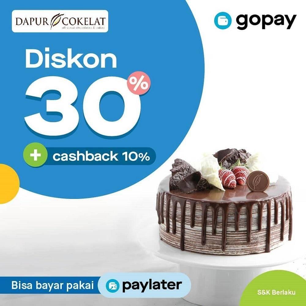 Dapur Cokelat Promo Spesial Diskon 30% + Cashback 10% dengan GoPay
